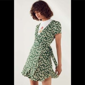 UO Kimchi Blue Rita Clover Wrap Dress